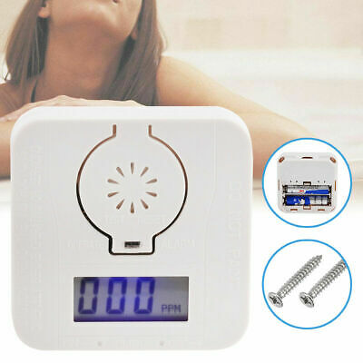 CO Carbon Monoxide & Smoke Detector Warning Alarm Poisoning Gas LCD Display