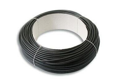 BLACK PVC Cable Sleeving / Tubing - Sizes From 3mm to 12mm Bore - 25M/50M Reels