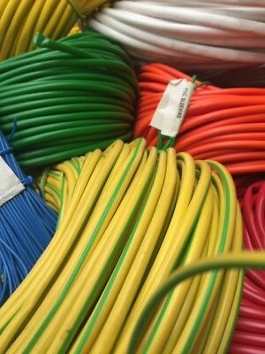 Coloured Flexible PVC Sleeving Cable Wiring Insulation, Many Sizes 5/10m Packs