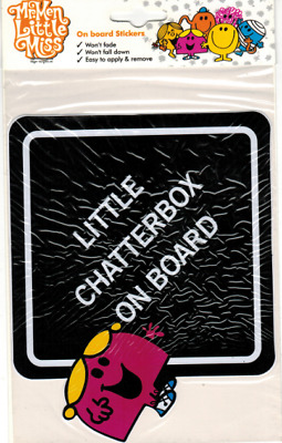 Mr Men & Little Miss - Chatterbox Happy Naughty On Board Car Sticker