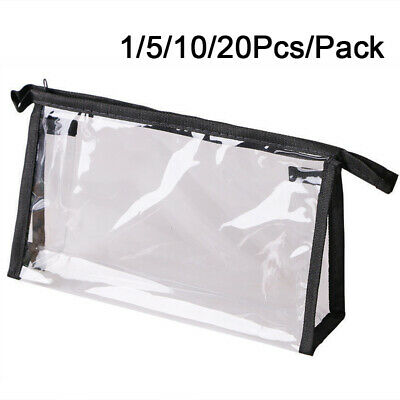 Wholesale Cosmetic Case Clear Plastic PVC Travel Zipper Make Up Toiletry Bag