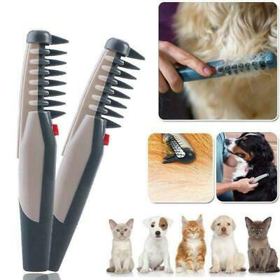 Knot Out Pet Cat Grooming Flea Electric Dog Hair Comb Groom Trimmer Tangles Tool