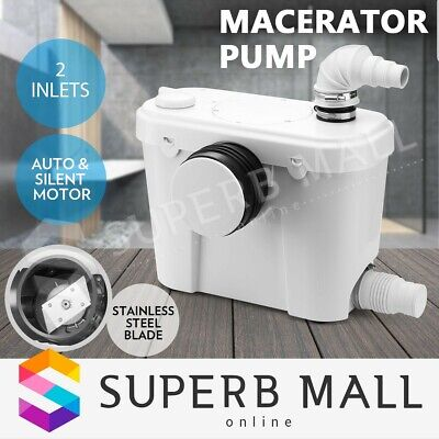 400W Macerator Sewerage Pump Waste Water Marine Toilet Disposal Unit Laundry