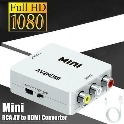 For HDMI To AV Adapter Converter Cable CVBS 3RCA 1080P Composite Video Audio