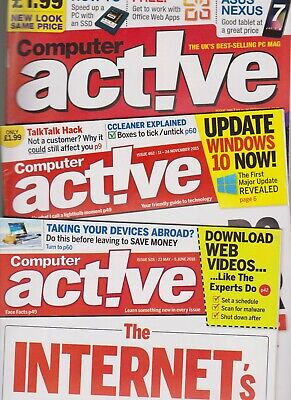 ComputerActive Magazine ~ Approx 160 Issues from Number 350 to 528