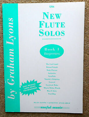 New Flute Solos Book 1 Beginners - Graham Lyons:11 Pieces + Piano Part  Unmarked