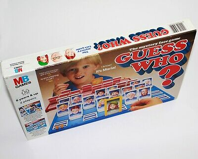 Original 1980's Edition Guess Who MB Boardgames Vintage Classic Retro Family
