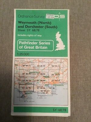 1969 Ordnance Survey Pathfinder Map SY68/78 Weymouth North And Dorchester South