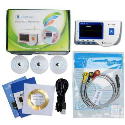 Heal Force PC-80B Portable Heart ECG Monitor Software Electrocardiogram Color