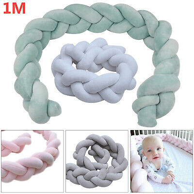 Baby Cot Bedding Infant Crib Woven Thick Plush Protection Pad Pillow 1M