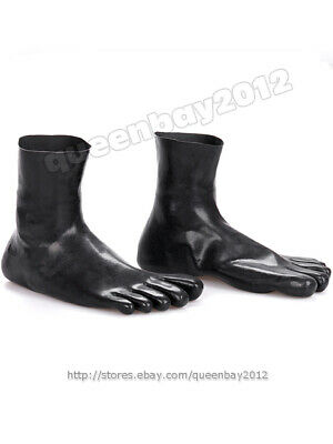100% Latex Rubber Gummi 0.45mm Toe/ Finger Socks Socken Schwarz