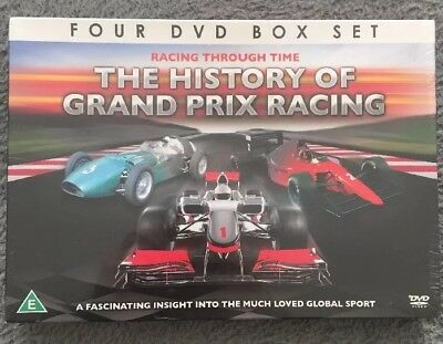 The History Of Grand Prix Racing 4 DVD Box Set New & Sealed Free Postage!