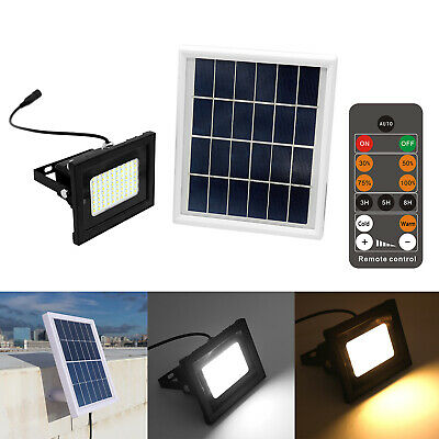 80 LED Remote Solar Light Sensor Flood Spot Light Garden Outdoor Security L #SN
