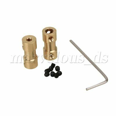 2pcs 3mm to 5mm Shaft Coupling Motor Connector Brass Joint For RC With Screws