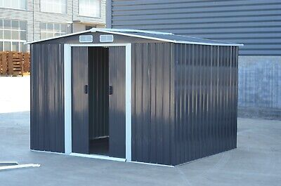 """Metal Garden Shed Outdoor Storage House10x8"""" Tool Sheds with Free Base"""