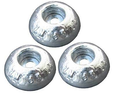 Pair of Aluminium Round Anodes 85diax20mm for Boat hulls rudders and trim tabs