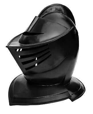 Unidecor Medievial Black Crusader Knight Steel Armor Helmet Adult Size
