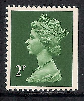 GB 1993 sg X1050 2p Deep Green litho. phosphorised paper perf 14 imperf edge MNH