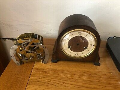 vintage 1930 Smiths Mantle Clock With Working Brass Movement