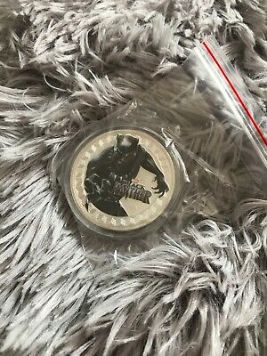 Marvel Avengers Black Panther Collectors Coin Silver Plated With Tin Gift