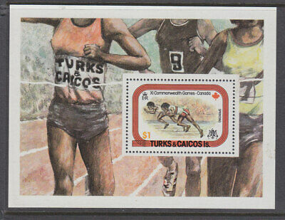Turks and Caicos Islands 1978 Commonwealth Games mini sheet MNH