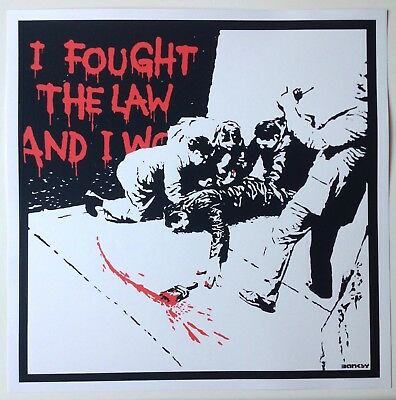 Banksy - I Fought The Law - Screen Print