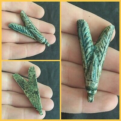 Rare ancient Egyptian blue fly amulet pendant 300 bc