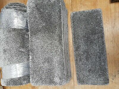 21	x	8.5	inches		(53	x	22	cm ) X12 GREY STAIR PADS PLUS MATCHING mat   #97