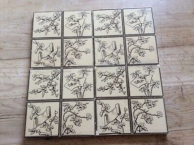 Victorian Aesthetic Minton Tiles - Set Of 4 Tiles     # 129