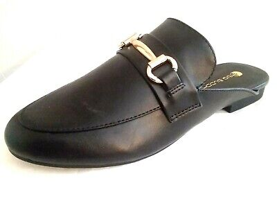 "Big Buddha - Womem Size ""6.5"" Ladies Premium-Black-Mule-Shoes"