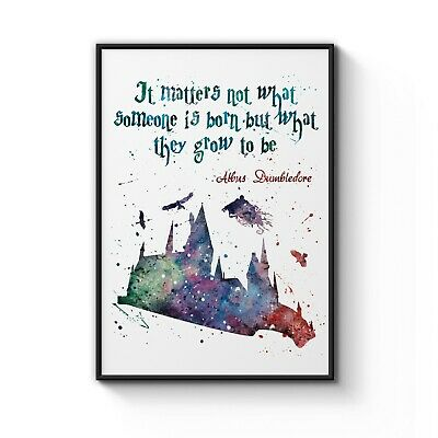 Harry Potter Hogwarts Quote Nursery Decor Art Print Poster Size: A4 to B1 Framed
