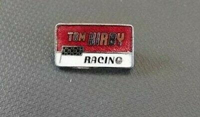 Motorcycle Enamel Pin Badge Tom Kirby Racing Red Silver White FAULTY CLEARANCE