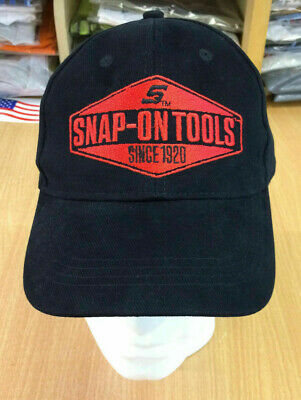 Genuine Snap-On Tools Black & Red Embroidered Tool Baseball Cap Hat Brand New