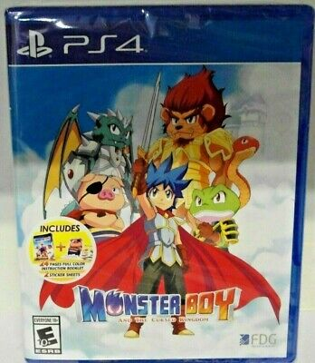 Monster Boy And The Cursed Kingdom Ps4 English Cover, Back & Subs New Sealed
