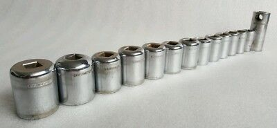 Garringtons imperial 1/2 inch drive vintage sockets x 14.