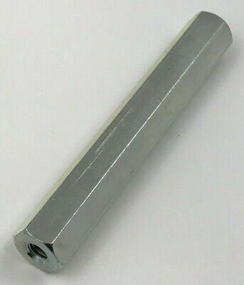"(1) New, Steel 1/2"" Hex Standoff, 3-1/2"" Long, 1/4-20 Female Threaded Ends"
