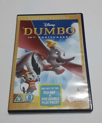 Disney Dvd Dumbo Special Edition Numbered Spine Gold Oval Childrens Family Film