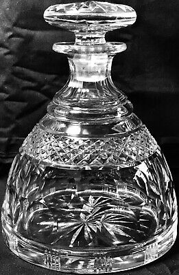 RARE ANTIQUE IRISH EARLY 19th CENTURY WATERFORD SHIPS DECANTER MATCHING STOPPER