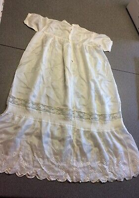 Babies Vintage Silk Embroidered Christening Dress/Gown