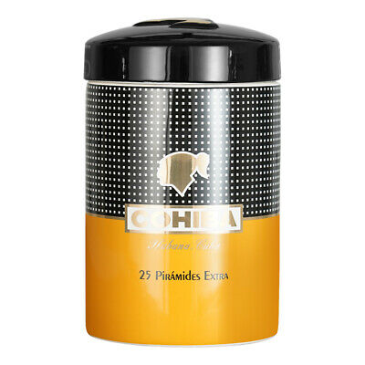 COHIBA Ceramic Travel Cigar Tube Jar 5-10 Fingers Humidor Box Outdoor Humidors