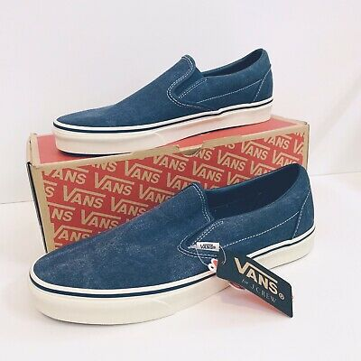51f67513a93 Vans® for J. Crew Washed Blue Washed Canvas Classic slip-on Sneakers Size