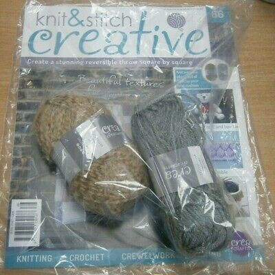 Knit & Stitch Creative magazine Partwork Issue #86 + 2 Balls Yarn