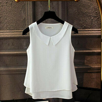 Female Multi Color Casual Women Tops Summer Double Layer Vest Sleeveless Shirt N