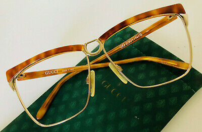 a71f1aec495 Vintage Gucci GG 2301 S Tortoise Gold Sunglasses Frame Only 60-20 Ladies
