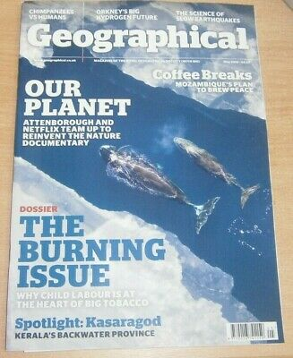 Geographical magazine May 2019 The Burning Issue Attenborough nature documentary