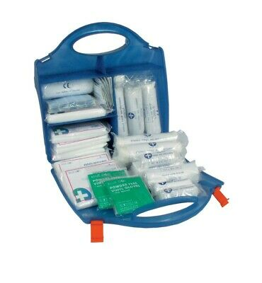 Catering First Aid Kit Box Small 10 person Blue Dot Injury Kitchen Restaurant
