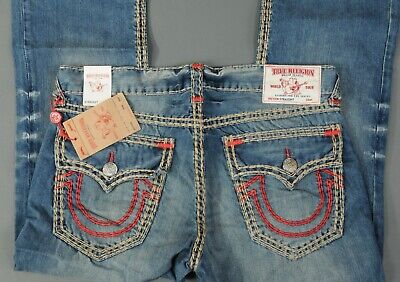 ef9b81fa8  269 CHAIN STITCH True Religion Men Jeans Red 30 31 32 34 36 38 40 ...