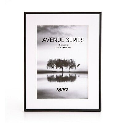 Kenro Avenue Series Black Photo Picture Frame with Gift Box & Glass Front
