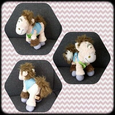 Peluche Doudou Diddl Cheval Galupy Gilet vert et jeans TBE 20cm