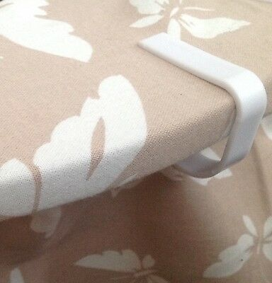 8 Tablecloth/cover Clips White Quality Tough Plastic Free  Royal Mail Post